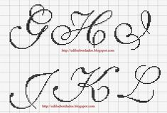 Saffron Lettering 2 charted alphabet for cross stitch or needlepoint