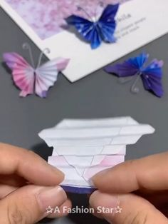 8 Easy Origami Ideas – Fun Paper Crafts – Butterfly DIY Greatest Origami Document Origami is one associated with the … Paper Flowers Craft, Paper Crafts Origami, Paper Crafts For Kids, Flower Crafts, Paper Crafting, Butterfly Crafts, Easy Origami Butterfly, Oragami Butterflies, Diy Butterfly Decorations