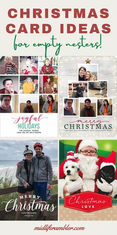 It can be difficult to gather everyone for the annual Christmas Card picture once the kids have grown up and left home. But you can still carry on the Christmas Card tradition even if you're an empty nester. Here are some creative Christmas Card Ideas for Empty Nesters to get you started.