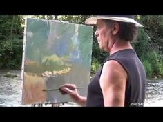 José SALVAGGIO plein air painting 26 another day in winter - YouTube