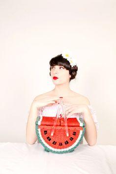 The Cherry Blossom Girl - Charlotte Olympia Watermelon Basket