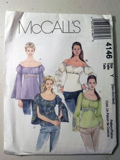 McCalls 4146 Peasant top pattern  Sizes by retroactivefuture, $4.00