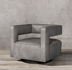 Drew Leather Swivel Chair