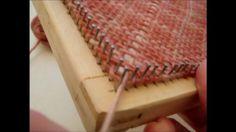 Pin Loom Weaving On The Bias on Vimeo
