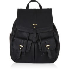 Accessorize Tab PU Backpack ($59) ❤ liked on Polyvore