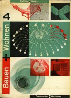 Bauen + Wohnen (Building + Home) Cover design by Richard Lohse, 1948