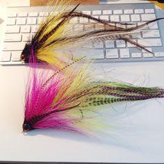 pair of musky flies #flytying