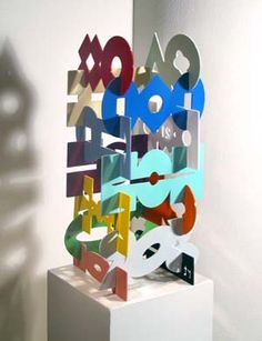 Richard Taylor, STACK-ABLZ, Ed. 99, Powder Coated Aluminum, 24 1/2 x 11 1/2 x 11 1/2""