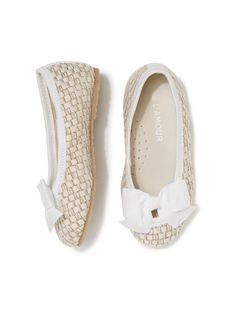 Faux Straw Bow Flats by L'Amour & Angel at Gilt