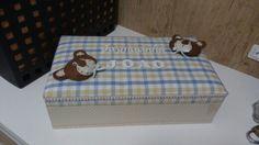 Caixa mdf decorada - ursinho