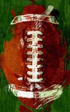 Abstract Football by David G Paul - Abstract Football by David G Paul American Football Paintings Flag Football, American Football Nfl, Football Drills, Football Tattoo, Youth Football, Alabama Football, Football Paintings, Sports Painting, Paint And Sip