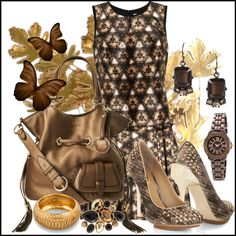 """Golden Flirt"" by jacque-reid on Polyvore"