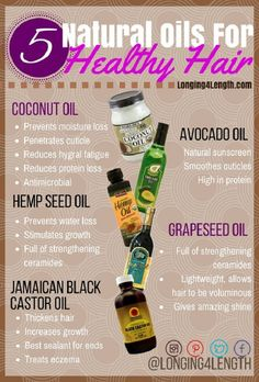 5 Healthy Hair Oils Every Girl Should Try! - Longing 4 Length - - 5 Healthy Hair Oils Every Girl Should Try! – Longing 4 Length hair Tip Tuesday 5 Healthy Hair Oils – Oils to Grow Long Hair, Hot Oil Treatment, Best Oils for Natural Hair Natural Hair Regimen, Natural Hair Care Tips, Natural Hair Growth, Natural Hair Styles, Natural Beauty, Castor Oil For Hair Growth, 4c Hair Growth, How To Grow Natural Hair, Going Natural