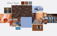 The warm earthy tones of Sedona Canyon provide a solid foundation to this shade of sky blue.