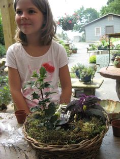Proud new gardener with this miniature garden Fairy Princesses, Miniature Fairy Gardens, Miniatures, Plants, Plant, Minis, Planets