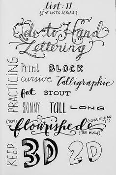 Handmade with love: Themaweek Handlettering # Inspiratie