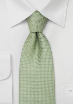 Silk neckties Light green designer silk tie