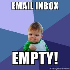 I did it! Inbox Zero has been achieved!