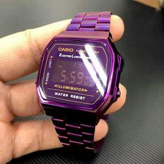 Casio Vintage Watch, Vintage Watches Women, Casio Watch, Trendy Watches, Retro Watches, Watches For Men, Casio Gold, Fat Women, Digital Watch