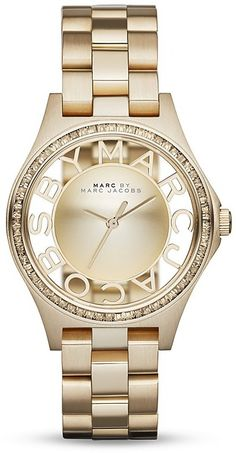 MARC BY MARC JACOBS Henry Skeleton Watch, 34mm