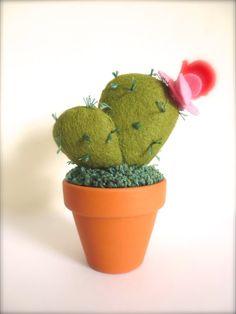 Mini Felt Cactus Pot Plant Home Decoration by KatyPillingerDesigns