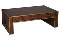 One Kings Lane - Loft  - Living - Filipe Coffee Table - trunk, travel inspired by Four Hands