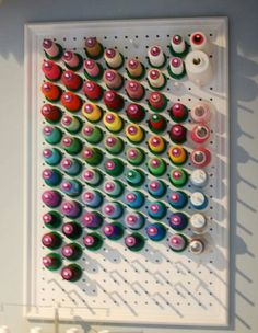 Sewing room organizer.. add hooks for sccosdors and other sewing gadgets