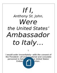 If I Were the United States' Ambassador to Italy...