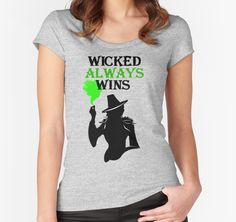 https://www.redbubble.com/people/ksuann/works/17792816-wicked-always-wins-bandw?p=womens-fitted-scoop&style=womens-fitted-scoop&body_color=athletic_heather&print_location=front in Large