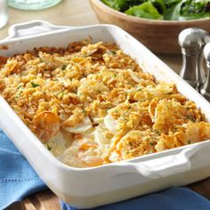 Dijon Scalloped Potatoes Recipe from Taste of Home -- shared by Carolyn Putnam of Norwalk, Ohio