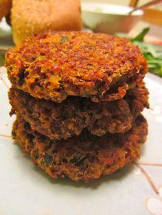 red lentil quinoa burgers