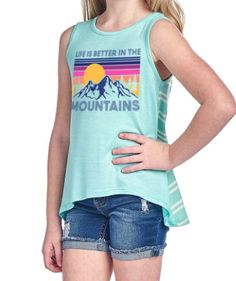 0b2cd5be00 Girls Life is Better in the Mountains Tank in Mint   lifeisbetterinthemountains  mountaingirl  mountaintank
