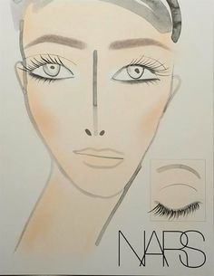 Naeem Khan Fall 2013 makeup face chart by NARS