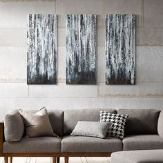 Madison Park 3-piece ''Birch Forest'' Canvas Wall Art Set featuring polyvore home home decor wall art 3 piece canvas wall art outside wall art three piece canvas wall art vertical canvas wall art 3 piece wall art