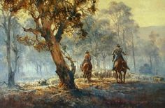 Eureka Art: d'Arcy Doyle Limited Edition Prints The End of the Muster Australian Painting, Australian Artists, Sunday Morning Images, Postmodern Art, Colonial Art, Desert Art, Landscape Art, Landscape Paintings, Landscapes