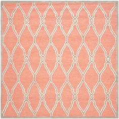 Safavieh Cambridge Coral/Ivory 6 ft. x 6 ft. Square Area Rug-CAM352W-6SQ - The Home Depot