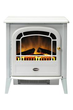 Dimplex Courchevel Log Effect Freestanding Electric Fire with Remote Dimplex Electric Stove, Electric Stove Fireplace, Electric Fireplaces, Freestanding Electric Fire, Dimplex Fires, White Stove, Stove Heater, Electric Fires
