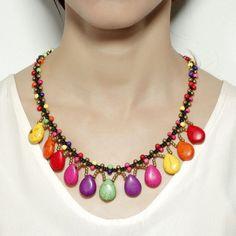# Multicolor Teardrop Necklace