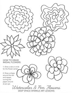 Radial Flower Idea Sheet | Deep Space Sparkle