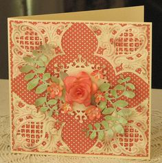 paper from Dawnie, handmade rose, anja corners