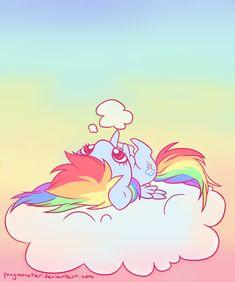 oh cloud u so silly by ponymonster.deviantart.com on @deviantART #cute #squee #rainbow_dash #mlp #my_little_pony