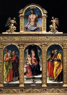 Santa Maria Gloriosa dei Frari Bartolomeo Vivarini Polyptych (фрагмент).