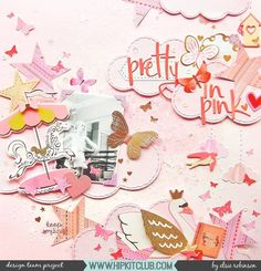 Pretty in Pink! Designer @heyelsie_ created this beautiful all pink layout with loads of layering! Elsie used the September 2017 Hip Kits ro create this beauty!