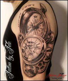 95 Meilleures Images Du Tableau Horloge Awesome Tattoos Clock Et