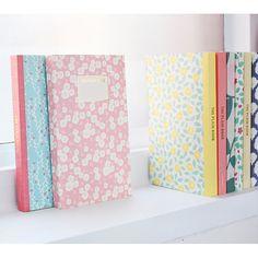 Livework Promenade flower pattern plain notebook - fallindesign
