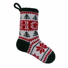 "FREE on Ravelry by Sarah Gasson who says, ""An easy to follow, delightful pattern for a very festive personalised stocking. The pattern is for the stocking to be knitted flat on straight needles, however it can be easily amended for the stocking to be knitted in the round on double pointed needles."""
