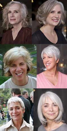 Great gray hair makeovers form hairstylist Eva Scrivo