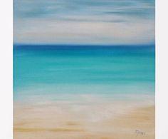 Abstract beach painting Beach art Seascape oil painting Abstract seascape painting Water art Beach art work Carribean art Original art 14x14