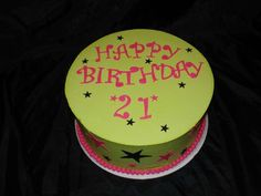 """I don't like the cake colors, but why didn't I think of putting the number UNDER the word Birthday - makes sense when trying to fit the words on top of the round cake to have """"Birthday"""" in the center where there is more room."""