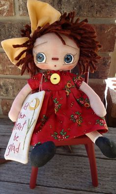 *RAGGEDY ANN ~ Rosie Annie Doll. I have GOT to make this one for one of my granddaughters!!!